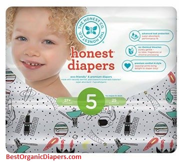 Honest Newborn Disposable Organic Diapers