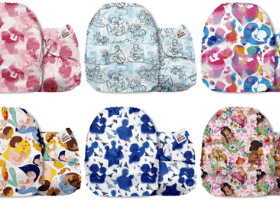 Mama Koala Pocket Cloth Diapers - girls patterns in rainbow colours