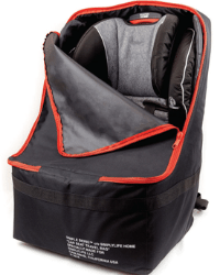 Simple Being Baby Car Seat Travel Bag - black with red zipper